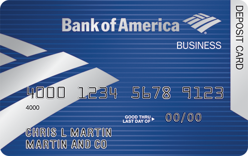 bank of america business debit card activation