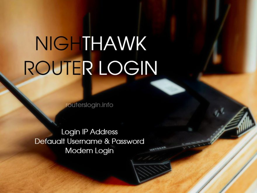 Netgear Nighthawk Router Login
